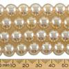 10mm Round Shiny Golden Glass Bead Strands