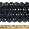 Blue Goldstone 10mm Round Beads
