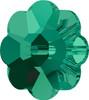 6mm Emerald Swarovski® Margarita Beads
