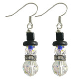 Swarovski Crystal Snowman Earrings: Project Instructions