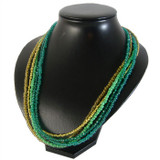 Long Green Seed Bead Necklace: Project Instructions