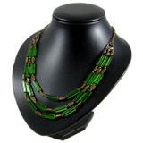 Green 3 Strand Bell Necklace: Project Instructions