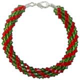 Pattern: Swarovski Christmas Beaded Round Kumihimo Braid