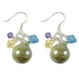 Green Pearl & Crystal Earrings: Project Instructions