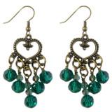 Teal Heart Drop Earrings: Project Instructions