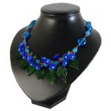 Blue Flower Garden Necklace: Project Instructions