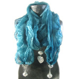 Interchangeable Beaded Scarf Ends (Open Heart): Project Instructions