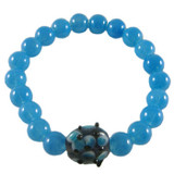 Simple Blue Stretchy Elastic Bracelet: Project Instructions