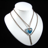 Multi Strand Blue Heart Chain Necklace: Project Instructions