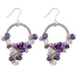 Purple Crystal and Rose Earrings: Project Instructions