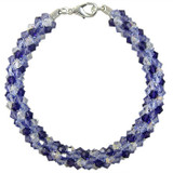 Pattern: Swarovski Purple Dreams Beaded Round Kumihimo Braid