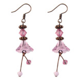 Pink Flower Earrings: Project Instructions