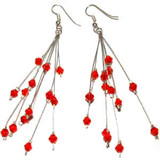 Red Starburst Earrings: Project Instructions