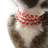 Cat's Red/Crystal Collar: Project Instructions