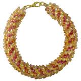 Pattern: Golden Magatama Beaded Round Kumihimo Braid