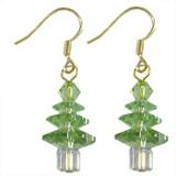 Peridot Swarovski Christmas Crystal Earrings: Project Instructions