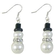 Glass Pearl Snowman Earrings: Project Instructions