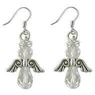 Sparkly Crystal Angel Earrings: Project Instructions