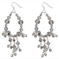 Grey Chandelier Earrings: Project Instructions