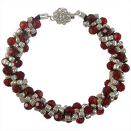 Silver & Red Beaded Kumihimo Bracelet: Project Instructions