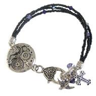 Black & Purple Charmed Bracelet: Project Instructions