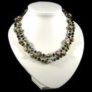 Black Cloisonne Two Strand Necklace: Project Instructions