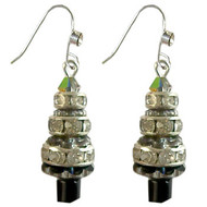 Diamante Rondelle Christmas Tree Earrings: Project Instructions