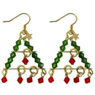 Swarovski Tiered Tree Earrings: Project Instructions