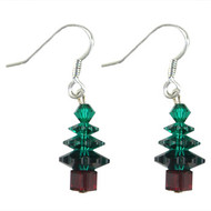 Emerald Swarovski Christmas Crystal Earrings: Project Instructions