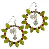 Christmas Wreath Hoop Earrings: Project Instructions
