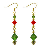 Swarovski Christmas Chain Earrings: Project Instructions