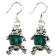 Green Frog Earrings: Project Instructions
