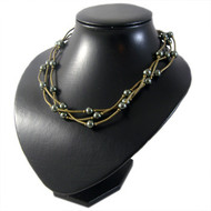 Olive Green Twist Tube Necklace: Project Instructions