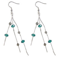 Teal/Grey Snake Chain Earrings: Project Instructions