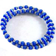 Blue Cats Eye Memory Wire Bracelet: Project Instructions