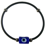 Men's Simple Black Stretchy Evil Eye Bracelet: Project Instructions