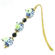 Blue/Gold Frog Bookmark: Project Instructions