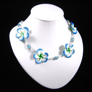 Blue/Green Clay Flower Necklace: Project Instructions