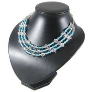 Aqua 3 Strand Chandelier Necklace: Project Instructions