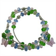 Spring Butterfly Memory Wire Bracelet: Project Instructions