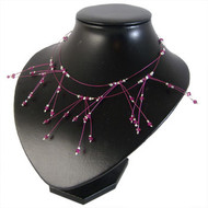 Fuchsia Waterfall Necklace: Project Instructions