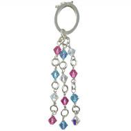 Pink and Aqua Swarovski Scarf Jewellery: Project Instructions