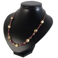 Copper & Fuschia Swarovski Necklace: Project Instructions
