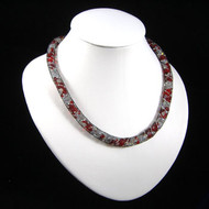 Simple Crystal Red Wire Mesh Tubing Necklace: Project Instructions