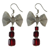 Swarovski Christmas Present Stack Earrings: Project Instructions