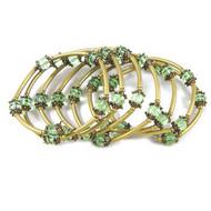 Peppermint/Bronze Memory Wire Bracelet: Project Instructions