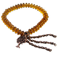 Amber Charm Tassel Elastic Bracelet: Project Instructions