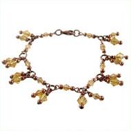 Amber Charm Bracelet: Project Instructions