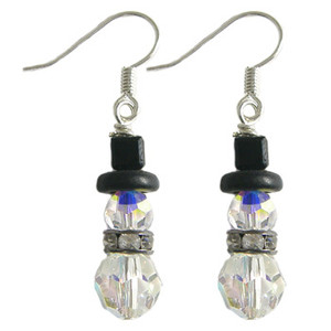 Swarovski Crystal Snowman Earrings: Project Instructions