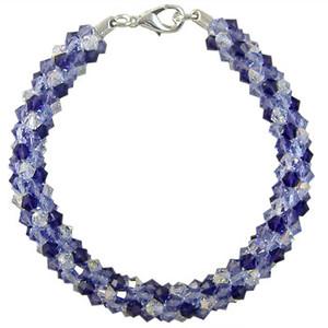 Pattern: Swarovski Purple Dreams Beaded Round Kumihimo Braid